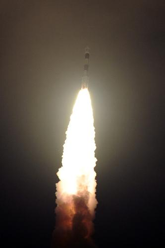 India's PSLV-C22 taking off