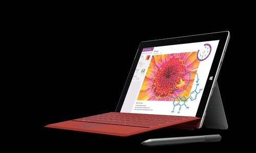 The Surface 3 tablet has a 10.8-inch screen with a 1920 x 1280-pixel resolution, and can double up as a laptop with a keyboard attachment.