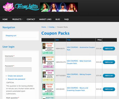 Counterfeit coupons are sold across underground websites, offering vast discounts on household goods.