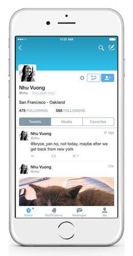 A new direct message button will appear on the profiles of Twitter users who let others send them private messages.