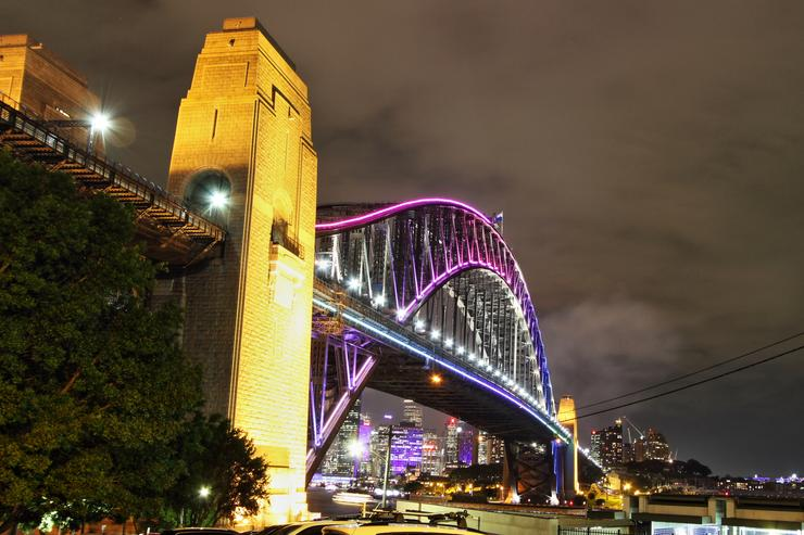 Sydney Harbour Bridge from the Luna Park side, Kirribilli | 