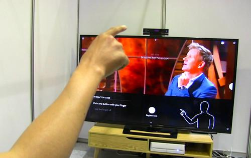 At the CHI 2015 conference in Seoul, South Korean startup Vtouch is demoing a Kinect-based gesture system that can also control household lights, stereos and thermostats with a single 3D camera.