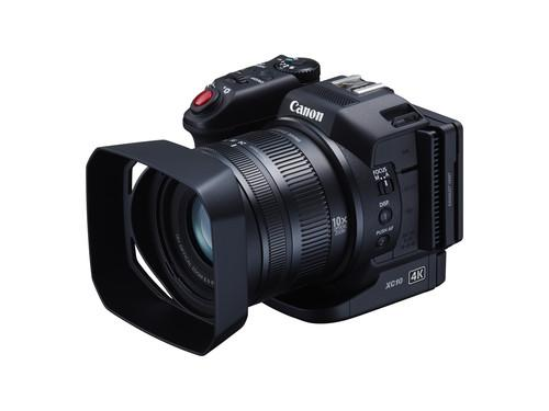 Canon's latest 4K camcorder, the XC10, has a relatively compact form and a rotating grip to get awkward shots. It goes on sale in mid-June for around US$2,000.