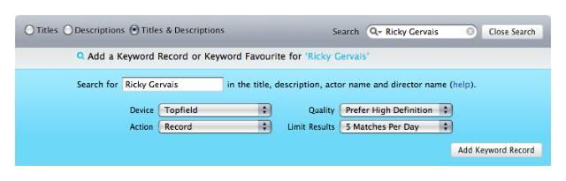 IceTV offers keyword recording for PVRs, Media Centre PCs