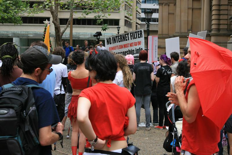 In Pictures: Aussies rally against sanitised Internet