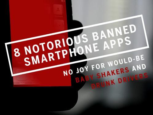 Smartphone apps banned by Apple, Google, and RIM