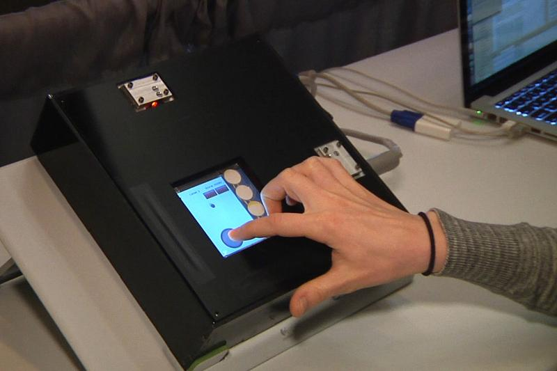 Friction control makes touchscreens sticky or slippery