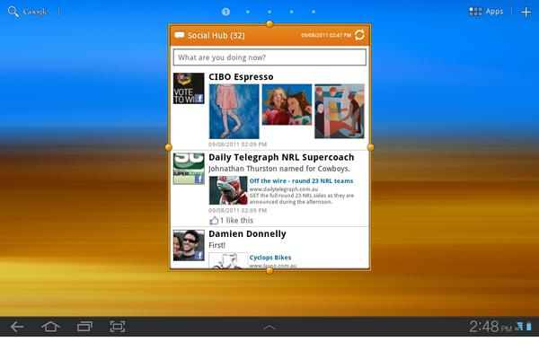 A look at the Samsung Galaxy Tab 10.1 and TouchWIZ UX