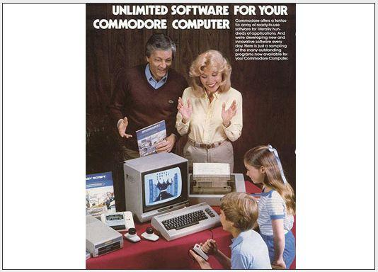 In Pictures: A look back at future tech -  Vintage Commodore computer ads