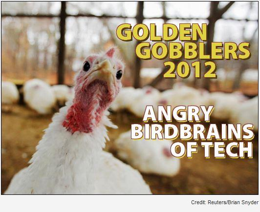 In Pictures: Golden Gobblers 2012 - Angry birdbrains of tech