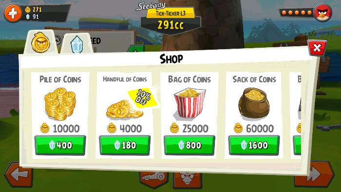 Rovio seems really adament on getting you to use real money.