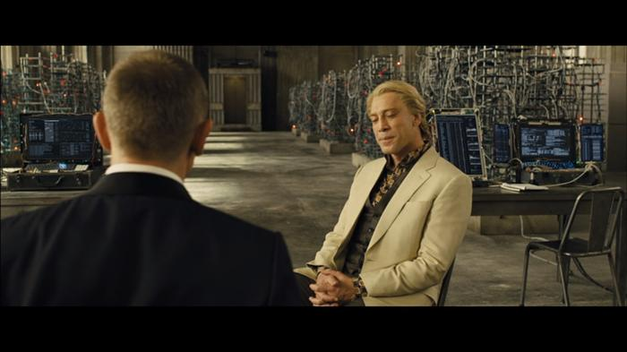 The Vdio full-screen mode takes up your entire PC's screen, adjusting the stream to suit. This is a 1920x1080 image, but since <i>Skyfall</i> has a cinematic aspect ratio there are black bars on top and bottom.