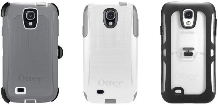 The Otterbox Defender, Commuter and Relfex cases for the Samsung Galaxy S4.