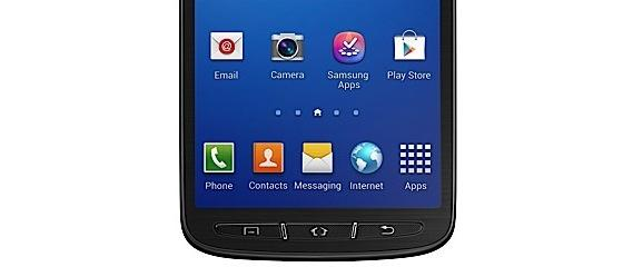 The Galaxy S4 Active's 5in screen uses a TFT panel rather than the Super AMOLED panel on the regular model.