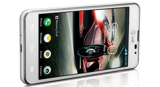The Optimus F5 has a 4.3in, IPS touchscreen with a qHD resolution of 540x960.