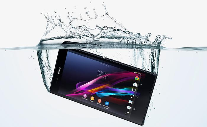 The Xperia Z Ultra is completely waterproof, not just water resistant.