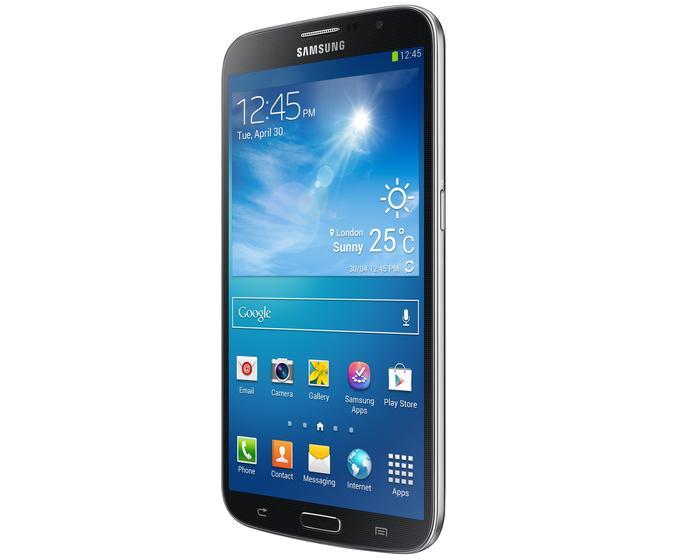 The Galaxy Mega 6.3 retains a similar look to Samsung's existing Galaxy smartphones.