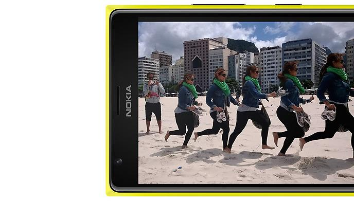 The Lumia 1520 has a large 6in screen with a full HD resolution of 1920x1080.