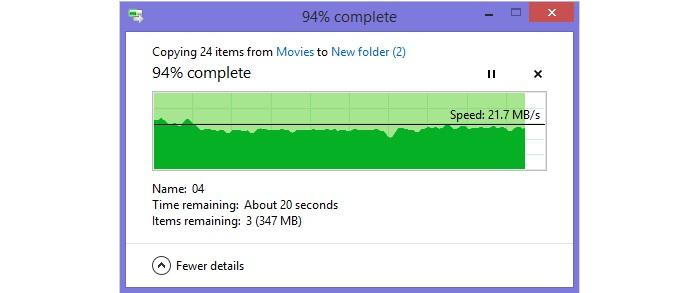 Big file transfer from 15m.
