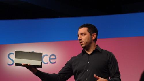 Microsoft's Panos Panay shows Surface 2 with Windows RT 8.1