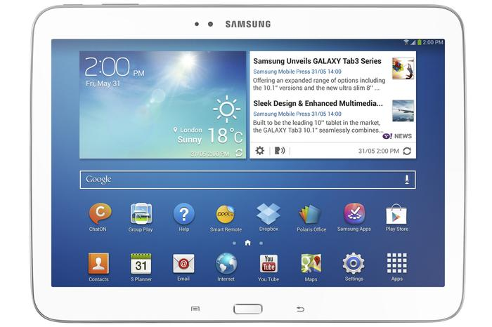 The larger Galaxy Tab 3 10.1 tablet.