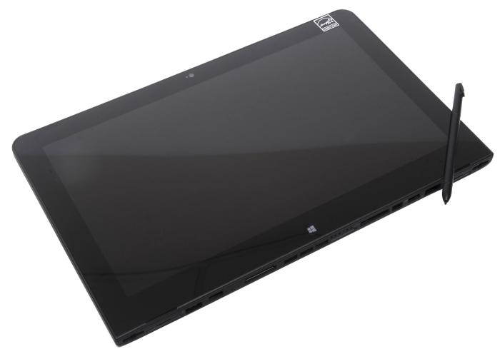 A stylus is supplied with the tablet, and it sits neatly in the top-left corner when it's not needed.