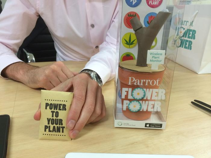 Parrot Australia's managing director, Chris Roberts demonstrates the Flower Power.