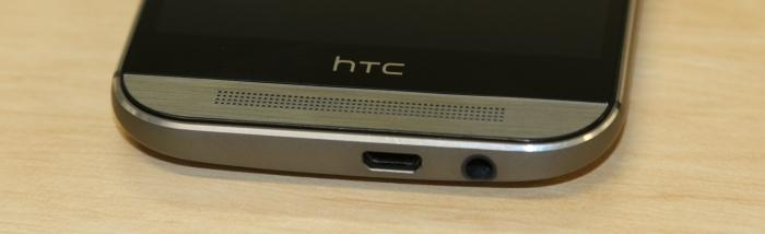 The bottom speaker on the HTC One (M8). There is also one at the top of the phone.