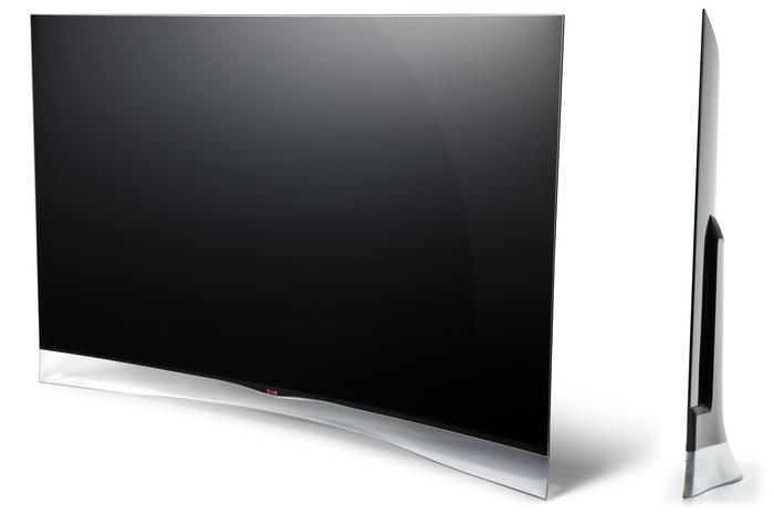 The 55-inch, curved LG 55EA9800 Full HD OLED TV.