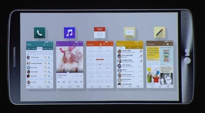 LG's graphical user interface has been redesigned for the G3