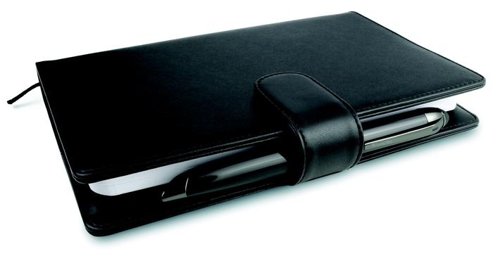 A leather-bound Livescribe notebook is included in the Pro Pack.