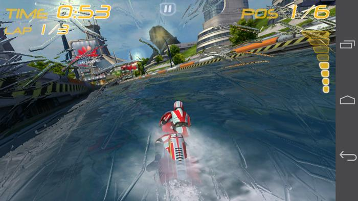 The Riptide GP game comes preloaded and the Ascend P6 handles the graphics well.