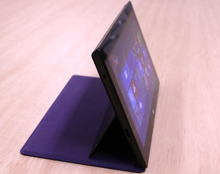 You can fold the Type Cover 2 underneath the tablet so that it acts as a stand.