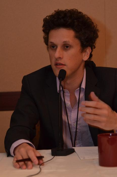 Box.net CEO Aaron Levie at the MobileBeat conference on Wednesday in San Francisco.