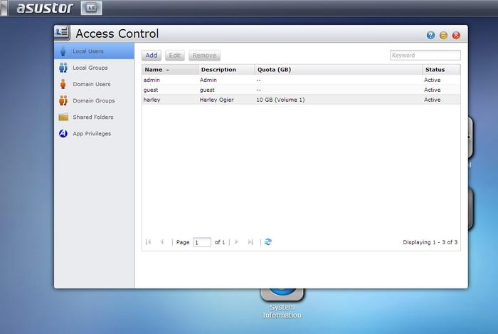 For a multi-user setup, it's simple to create users, groups, and assign disk quotas and access rights.