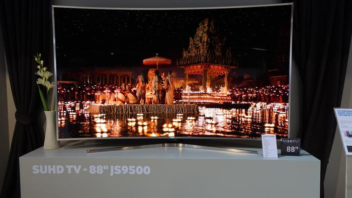 Samsung's JS9500 television - on display at the Samsung Regional Forum 2015
