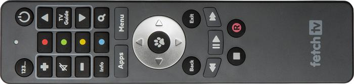 Fetch TV's remote is simple, responsive and intuitive. Also, if you press the 123 Button, the buttons become an number pad.
