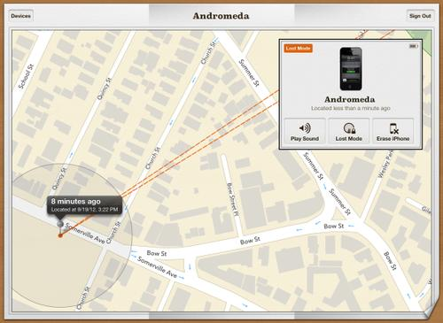 Apple's Find My iPhone app offers the same basic features as Android Device Manager.