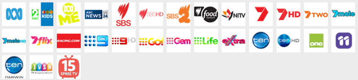 The Freeview channels.