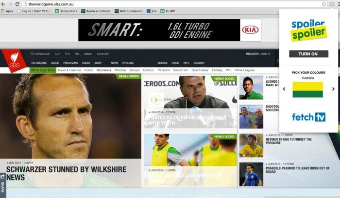 This is what the World Game web site looks like normally.