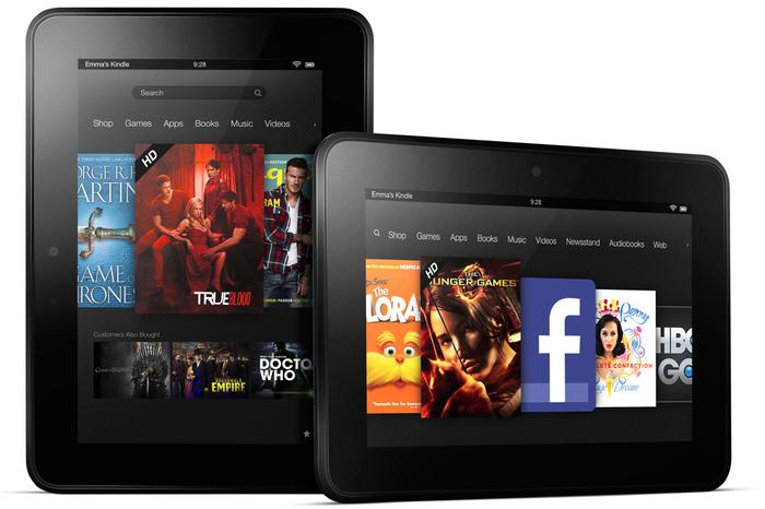 The Amazon Kindle Fire HD tablet.