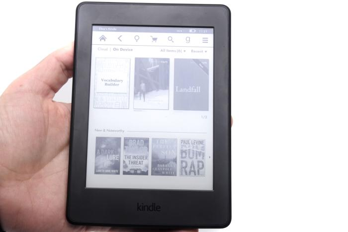 The Kindle Paperwhite's main screen.