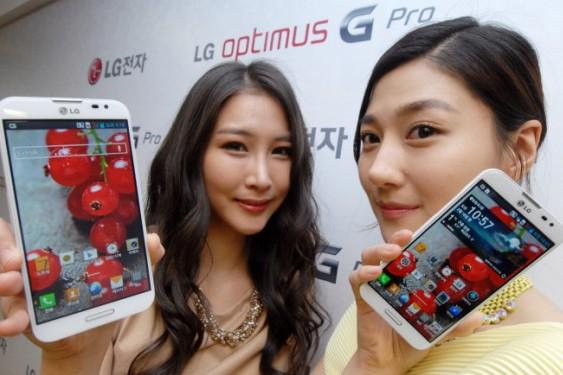 The LG Optimus G Pro Android phone.