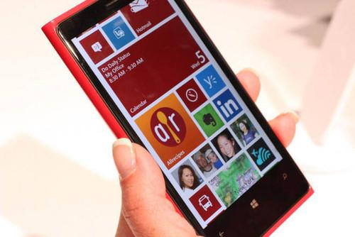 """Lumia smartphones like this Lumia 920 are known for their attractive design, killer camera, and color explosion—none of which screams """"productivity."""""""