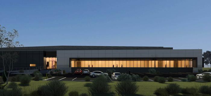 A render of Rackspace's Erskine Park data centre in Sydney.