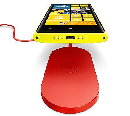 The Lumia 920 includes built-in wireless charging, using the Qi wireless power standard. There will be a range of charging accessories available.
