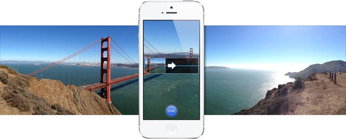 The iPhone 5's camera now has a panorama feature.