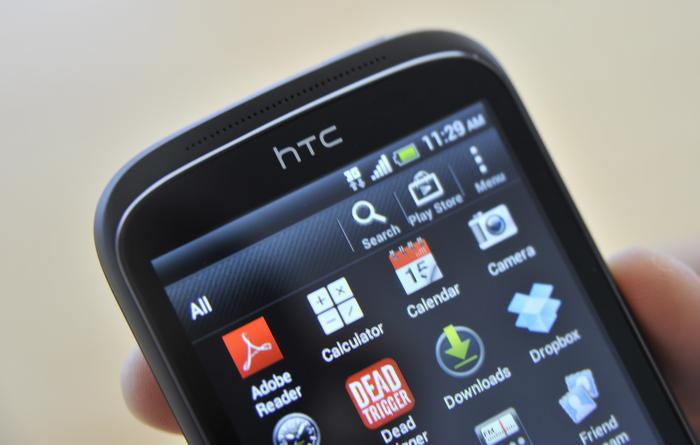 The Desire C runs the 4.0 Ice Cream Sandwich version of Google's Android operating system and is skinned with HTC's now familiar Sense UI.