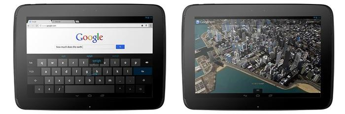 The Nexus 10 comes with the latest version of Android, 4.2 'Jelly Bean'.