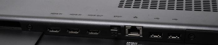 The ports on the rear.